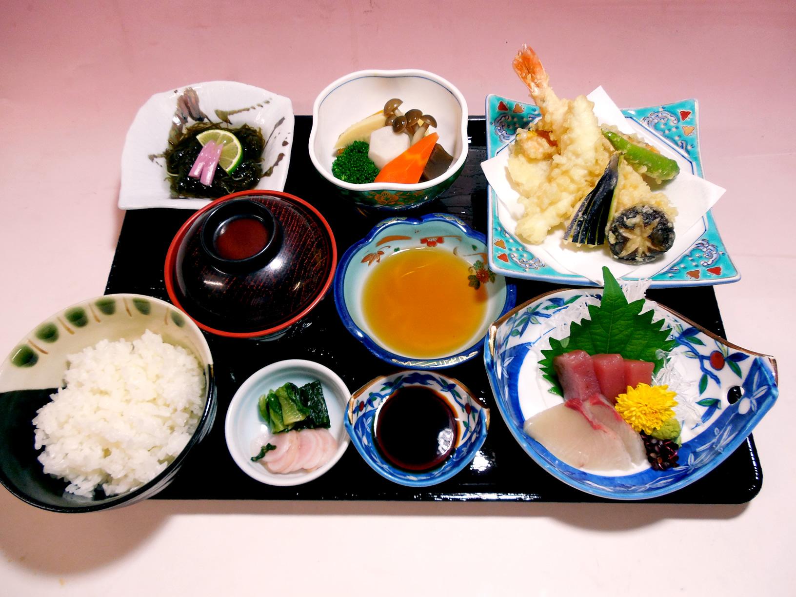 刺身天ぷら膳 1,400円